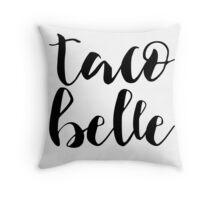 Taco Belle Throw Pillow