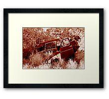 Rusty Old Ute Framed Print