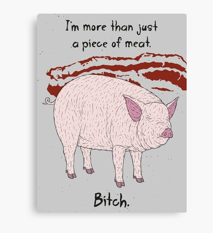 Angry Pig Canvas Print