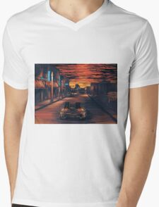 Back To The Future Version 2 Mens V-Neck T-Shirt