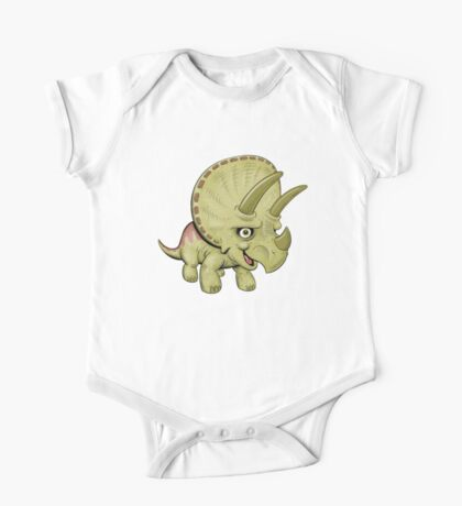 Cute Triceratops One Piece - Short Sleeve