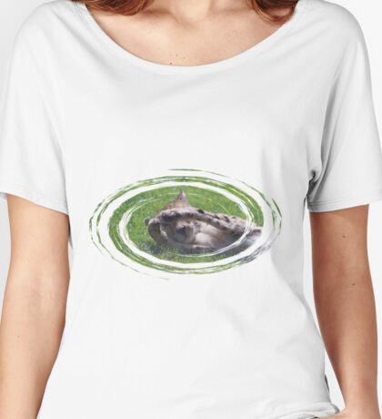 Peek A Boo with a Cheetah Women's Relaxed Fit T-Shirt