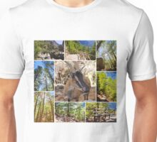 Photo collage of Samaria Gorge images in central Crete, Greece Unisex T-Shirt