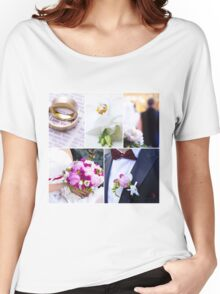 Wedding theme photo collage Women's Relaxed Fit T-Shirt