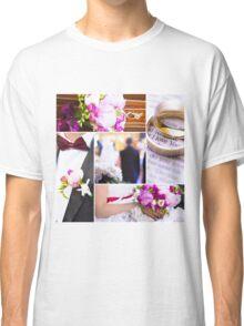 Wedding theme photo collage Classic T-Shirt