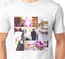 Wedding theme photo collage Unisex T-Shirt