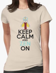 Keep Calm and Zen On Womens Fitted T-Shirt