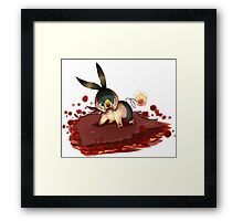Flames of Furry Framed Print