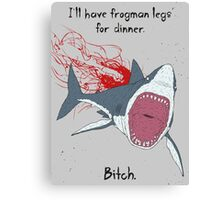 Angry Shark Canvas Print