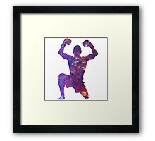 Muay Thai Fighter Colorful Framed Print