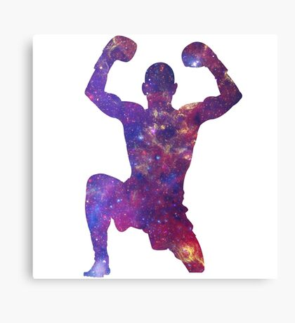 Muay Thai Fighter Colorful Canvas Print