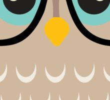 Cute Hipster Girl Owl Sticker
