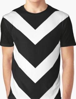 White and Black Chevron Vectors Graphic T-Shirt