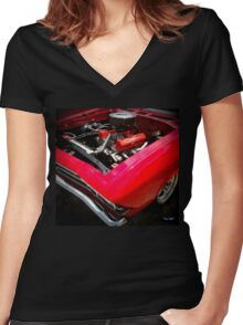 Red Chevelle Women's Fitted V-Neck T-Shirt