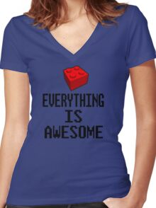 Lego - Everything Is Awesome Women's Fitted V-Neck T-Shirt