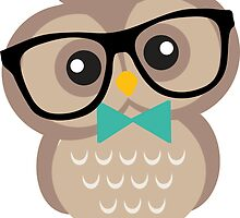 Cute Hipster Owl by heartlocked