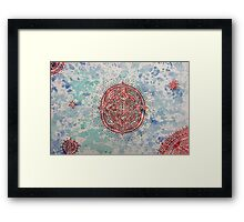 Sea Mandala  Framed Print