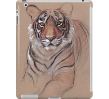 UNFINISHED BUSINESS - Original Tiger Drawing - Mixed Media (acrylic paint & pencil) iPad Case/Skin