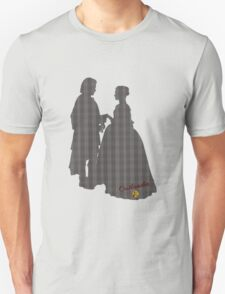 Outlander Wedding Silhouettes Unisex T-Shirt