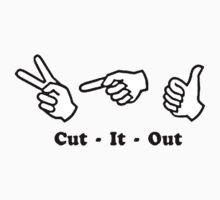 Cut It Out Kids Tee