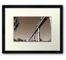 Train Bridge Framed Print