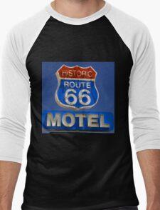 Route 66 motel Men's Baseball ¾ T-Shirt
