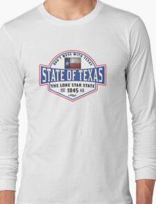 TEXAS LONE STAR STATE DALLAS HOUSTON AUSTIN Long Sleeve T-Shirt