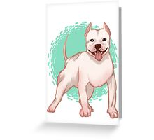 Harker the Pit Bull Greeting Card