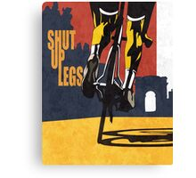 retro styled Tour de France cycling illustration poster print: SHUT UP LEGS Canvas Print