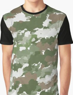 Watercolor Camouflage pattern Graphic T-Shirt
