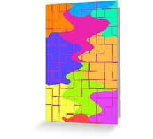 Puzzle Splatters Greeting Card