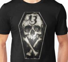 Lucky 13 skull and cross bones Unisex T-Shirt