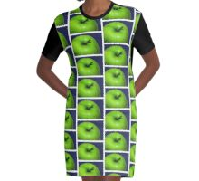 GREEN APPLE Graphic T-Shirt Dress
