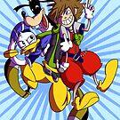 Kingdom Hearts Trio by AugustRaeRae93