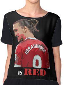 Zlatan is Red Chiffon Top