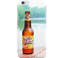 Beer bottle on dock iPhone Case/Skin