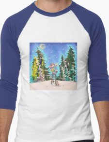 Winter Wonders Men's Baseball ¾ T-Shirt