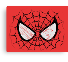 Spider-Man face Canvas Print