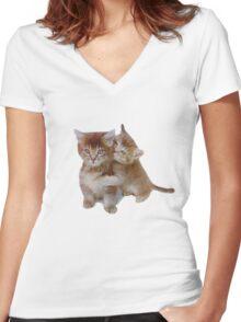 Love Kittens Women's Fitted V-Neck T-Shirt