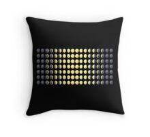 Phases of the moon - emoji style Throw Pillow