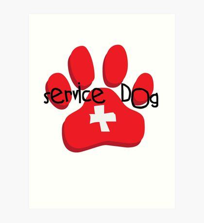 Service Dog Art Print