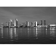 San Diego Night Skyline Photographic Print