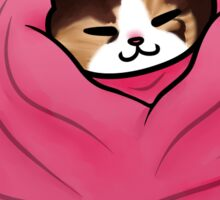 Tiny Cat In A Blanket Sticker
