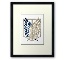 Survey Corps Insignia Framed Print