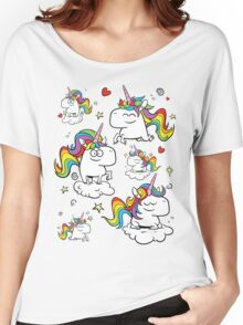 Rainbow Unicorns Women's Relaxed Fit T-Shirt