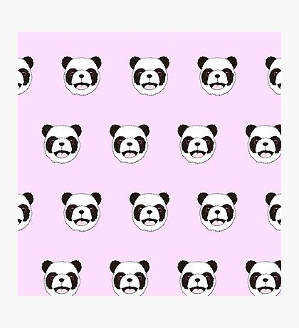 Cute,Panda heads,on pink, background,kid,kids,fun,happy Photographic Print