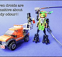 Even droids are sensitive about body odour! by Tim Constable