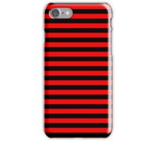 Devil Red and Black Horizontal Witch Stripes iPhone Case/Skin
