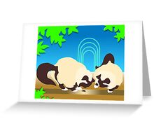 Crunch and Crumble Cats Find A Bug Greeting Card