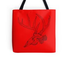 Whitetail Buck Skull with Pine Cones Tote Bag